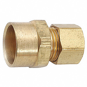 "Low Lead Brass Sweat Adapter x Compression Sweat Adapter, 5/8"" x 3/8"" Tube Size"