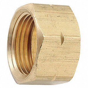 "Low Lead Brass Nut, 3/8"" Tube Size"