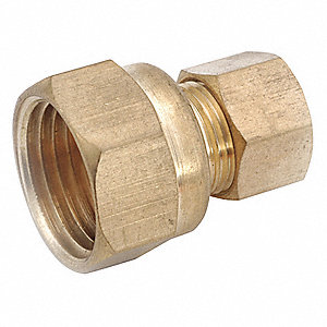 "Female Coupling, 3/8"" Tube Size, 1EA"