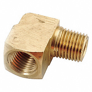 "Low Lead Brass Street Elbow, 1/8"" Pipe Size - Pipe Fitting"