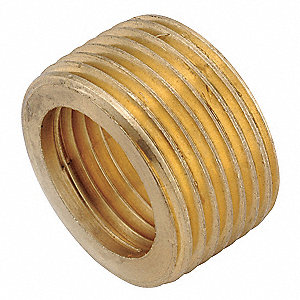 "Low Lead Brass Face Bushing, 3/4"" x 1/2"" Pipe Size,  1 EA"