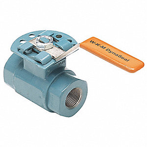"Carbon Steel FNPT x FNPT Ball Valve, Lever, 2"" Pipe Size"