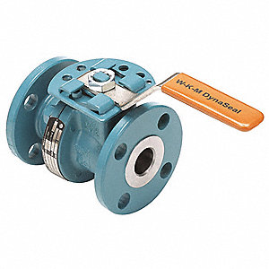 "Carbon Steel Flanged x Flanged Ball Valve, Gear, 4"" Pipe Size"