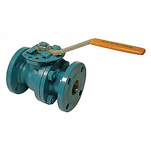 "Carbon Steel Flanged x Flanged Ball Valve, Lever, 3"" Pipe Size"