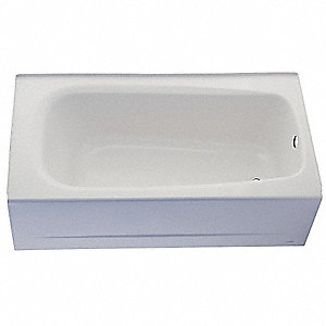 "60"" x 32"" x 17-3/4"" Soaking Tub with Drain Location on the Right, White"