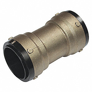 "DZR Brass Coupling, 2"" Tube Size"