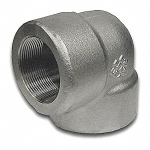 "304/304L Stainless Steel Elbow, 90 Degrees, FNPT, 1/2"" Pipe Size - Pipe Fitting"