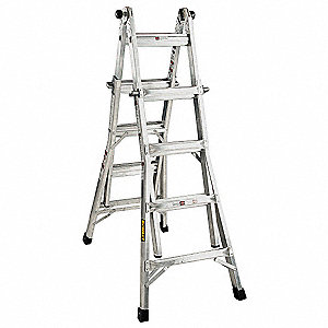 Dewalt escalera multiusos al 17 pies aluminio escaleras for Escalera multiusos