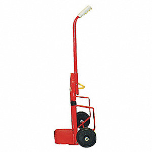 "Folding Hand Truck, Continuous Frame Single Pin, 200 lb., Overall Width 20"", Overall Height 37"""