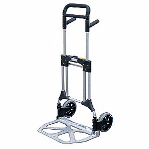 "Folding Hand Truck, Telescoping, 550 lb., Overall Width 26-1/2"", Overall Height 47"""
