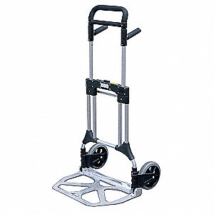 "Folding Hand Truck, Telescoping, 400 lb., Overall Width 24"", Overall Height 50"""