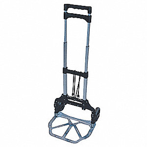 "Folding Hand Truck, Telescoping, 150 lb., Overall Width 15-1/4"", Overall Height 39"""