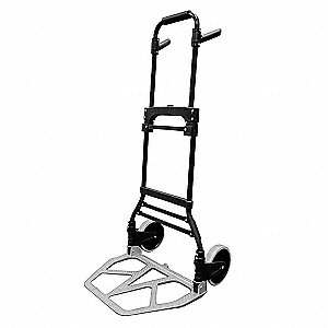 "Folding Hand Truck, Telescoping, 300 lb., Overall Width 19"", Overall Height 44-1/2"""