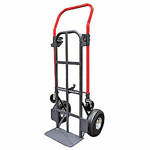 Convertible Hand Truck, Flow back, 800 lb., Overall Height 48""