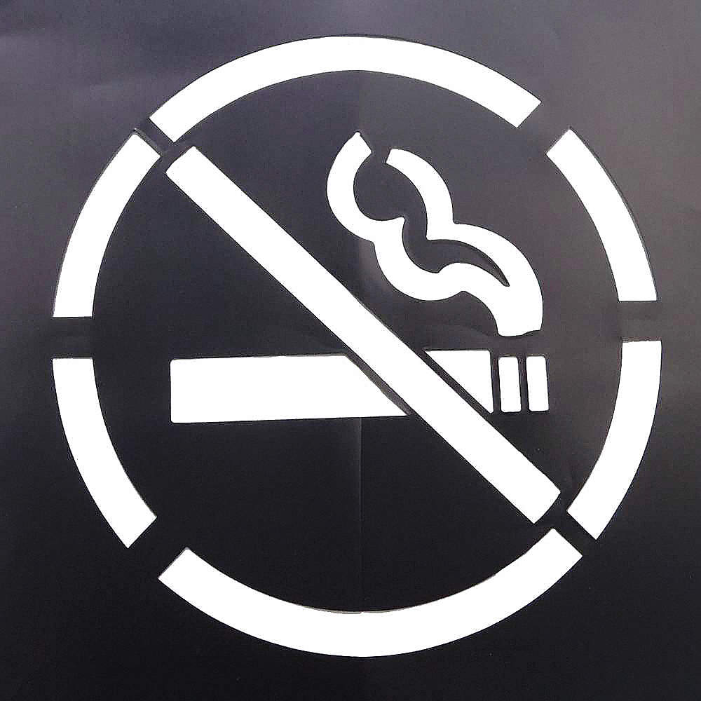 Grainger Approved Stencil No Smoking Symbol 15 12 Pvc 1 Ea