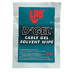 "Solvent and Degreaser Wipes, 8"" x 11"", 1 Wipes per Container, 1 EA"