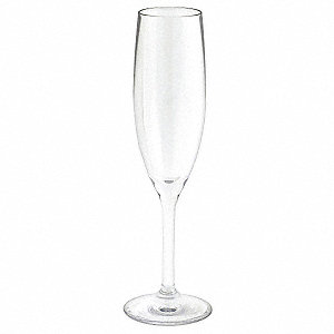 5-1/2 oz. Champagne Flute, Polycarbonate Material, 12 PK