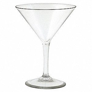 Martini Glass,Clear,8 oz.,PK 12