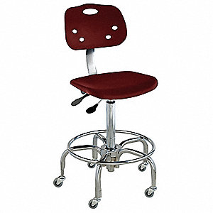"Polypropylene Ergonomic Chair with 19 to 26"" Seat Height Range and 350 lb. Weight Capacity, Maroon"