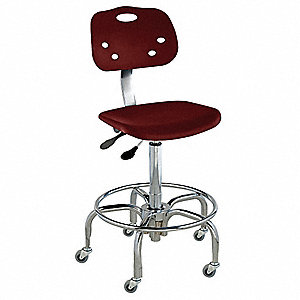 "Polypropylene Ergonomic Chair with 19"" to 26"" Seat Height Range and 300 lb. Weight Capacity, Maroon"