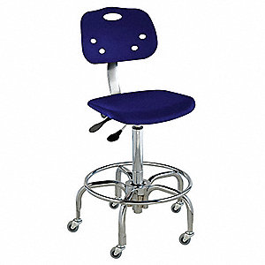 "Polypropylene Ergonomic Chair with 19 to 26"" Seat Height Range and 350 lb. Weight Capacity, Blue"