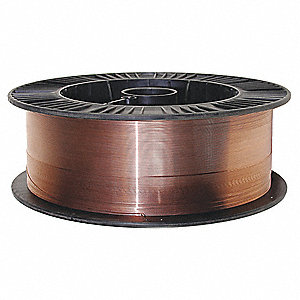 "33 lb. Carbon Steel Spool MIG Welding Wire with 0.023"" Diameter and ER70S-6 AWS Classification"