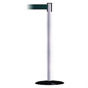 Barrier Post with Belt,13 ft. L,Green