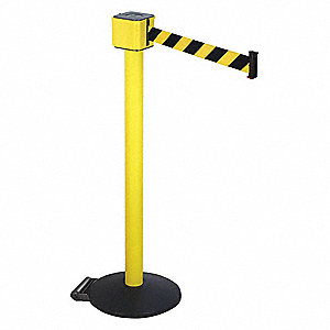 Barrier Post with Belt,40 In. H,30 ft. L