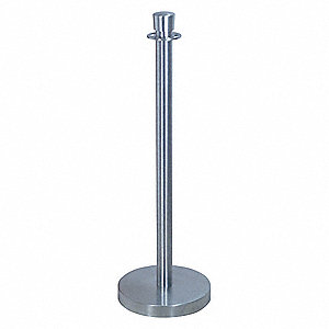 "Urn Top Rope Post, Satin Chrome, Satin Chrome Post Finish, 39"" Height"