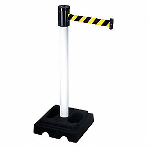 Barrier Post with Belt,40 In. H,15 ft. L