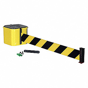 Wall Barrier, 30ft Black/Yellow Belt