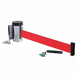 Wall Mounted Retractable Belt Barrier, Red