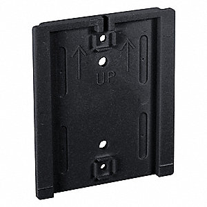Polycarbonate Wall Mount Plate, Black
