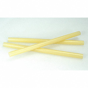"Tan/Amber Hot Melt Glue Stick, 5/8"" Diameter, 10"" Length, 53 PK"