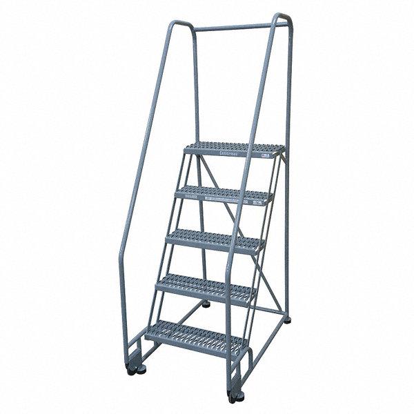 Cotterman 5 Step Tilt And Roll Ladder Serrated Step Tread