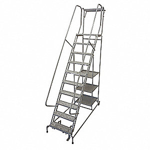 Wondrous 8 Step Rolling Ladder Perforated Step Tread 110 Overall Height 300 Lb Load Capacity Spiritservingveterans Wood Chair Design Ideas Spiritservingveteransorg