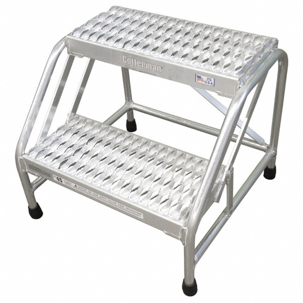 cotterman step stand 20 in h 500 lb  aluminum