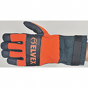 Cut Resistant Gloves, ANSI/ISEA Cut Level 4 Lining, Blue, Orange, L, PR 1