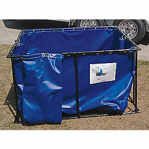 300 gal. Open Top Water Containment Tank, 22 oz. PVC, Blue