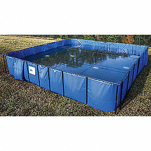 3000 gal. Open Top Water Containment Tank, 22 oz. PVC, Blue