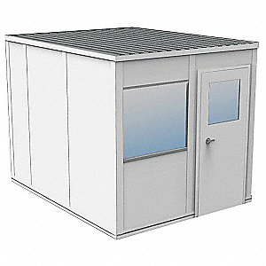 Modular InPlant Office,3Wall,8x10,Gypsum