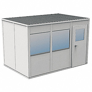 Modular InPlant Office,3Wall,8x12,Vinyl