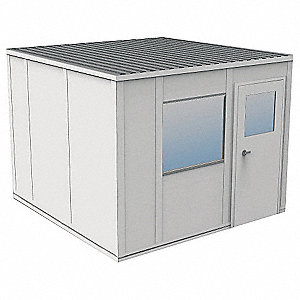 Modular InPlant Office,3Wall,10x10,Vinyl