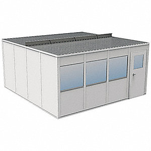 Modular InPlant Office,2Wall,16x16,Steel
