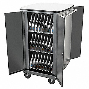 Syncing and Charging Cart,Steel,Gray