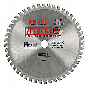BLADE 6.5IN 48T STAINLESS 5/8 ARBOR