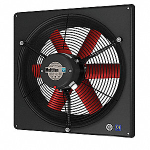 "17-7/16"" x 17-7/16"" 120V Corrosion Resistant, Medium Performance 1-Phase Exhaust Fan"