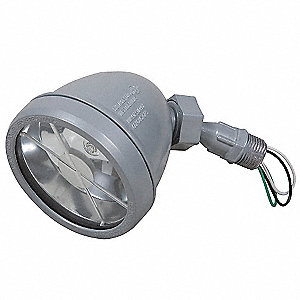 "5-1/2"" 75 Watt Halogen Swivel Lampholder, Powder Coated Gray"