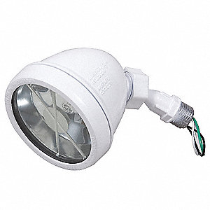 "5-1/2"" 75 Watt Halogen Swivel Lampholder, Powder Coated White"