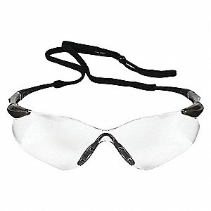 V30 Nemesis VL Scratch-Resistant Safety Glasses, Clear Lens Color
